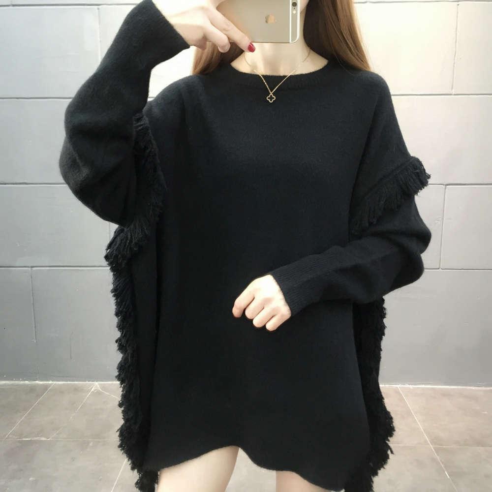 2021Pullover Frauen Herbst Winter 2020 Neue Lose Koreanische Ausgabe Gestrickte Basis Mantel Pullover Damen Mode Baumwolle Kaschmir Frau