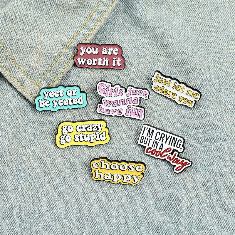 Забавный творческий характер эмаль эмаль цветов мода Различные типы броши для отворотов булавки одежда рубашки сумки 1010 Q2
