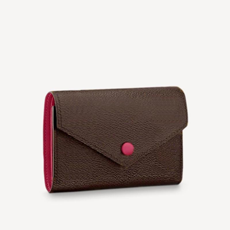 Mulheres Luxurys Designers Sacos 2021 Colorido Couro Lining Bolsas Senhoras Bolsa De Bolsa De Polfe Saco de Carteiras com Caixa 12 * 9 * 2cm Conveniente Armazenamento de Cartão de Crédito