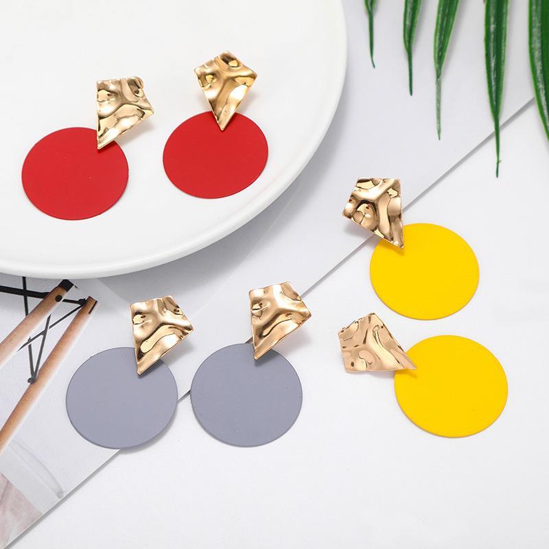 2020 Nuovo Design Lady Dichiarazione Orecchino Orecchino Donne Metallo Gold Colore Eye Heart Labbra Long Dangle Stud Orecchini Fashion Party Gioielli 839 Q2