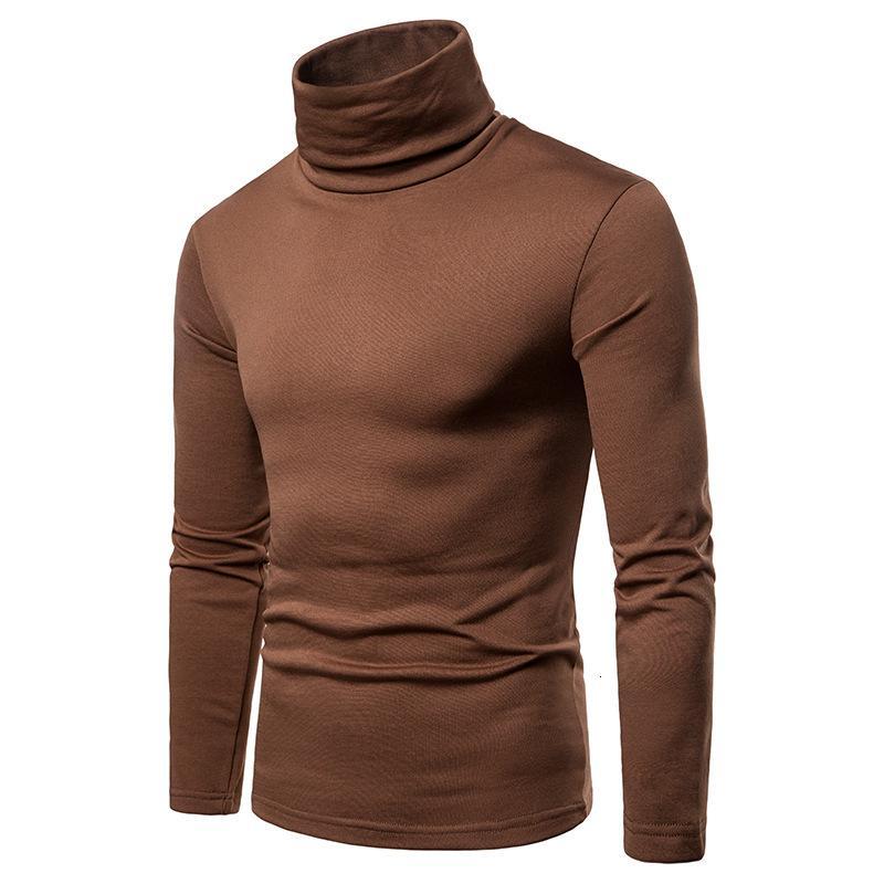 Pullover Pullover Herren Pullover Große Größe Dicke Warm High Hals Langarm Tshirt Basis Hemd 6 Farben Hemd Luxus Männer Pullover