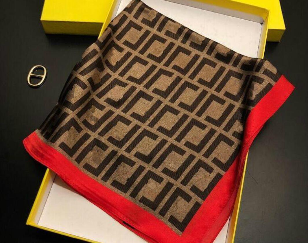 2021 donna sciarpa di seta moda fascia di moda piccole sciarpe quadrate pashmina accessori per fodera 50 * 50