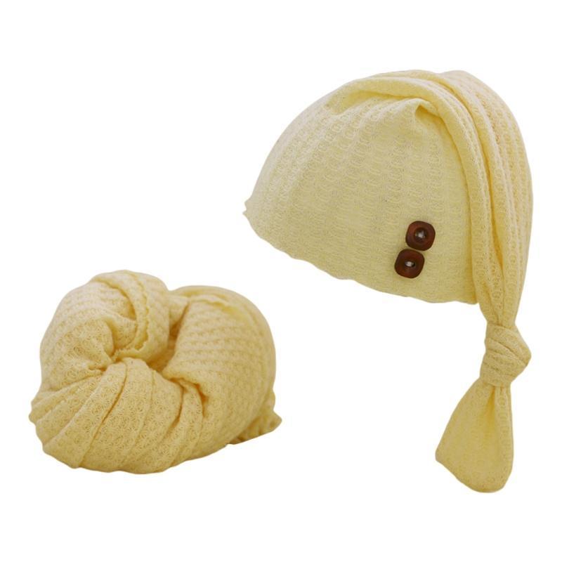 Рожденные младенческие PO реквизиты шляпа ткань обертывающие картина, принимая фоновые аксессуары мягкие растягивающие и 67jc шапки шляпы