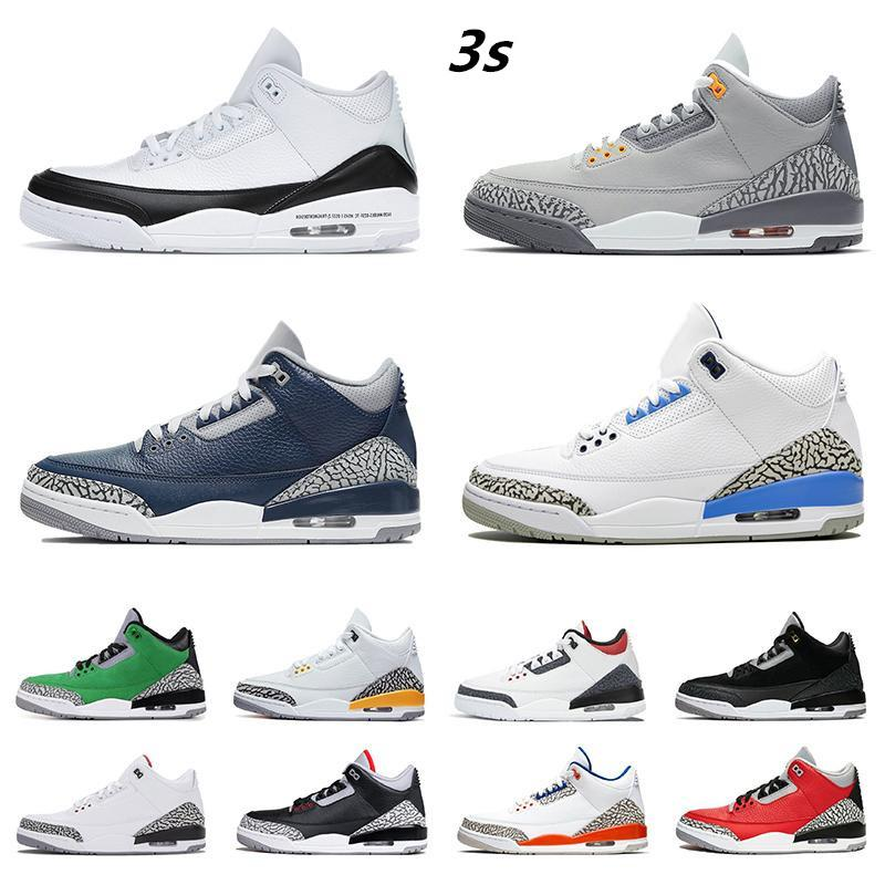 أحذية رجالي كرة السلة 3S 3 UNC Jumbman أحذية رياضية المحكمة الأرجواني بارد رمادي كاترينا شظية اسكواش الملكي NRG اسمنت أبيض أسود برتقالي أحمر