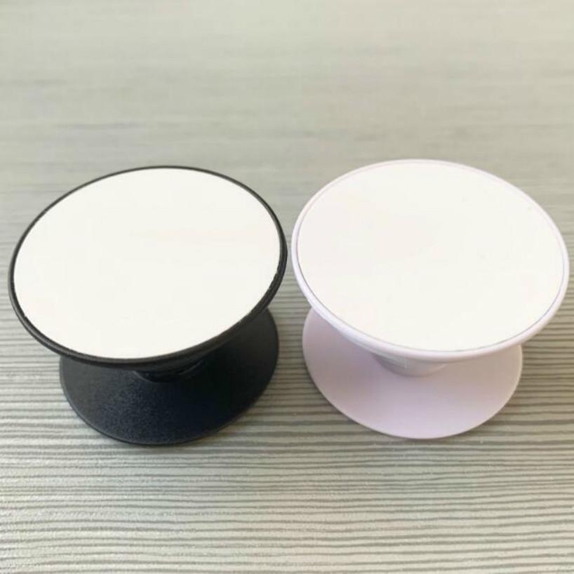 20 STÜCKE Kreis-Handys-Halter mit Nut-leerer Aluminium-Sublimationseinlage für benutzerdefinierte kundenspezifische Grip-Telefonständer-Halterung V74K