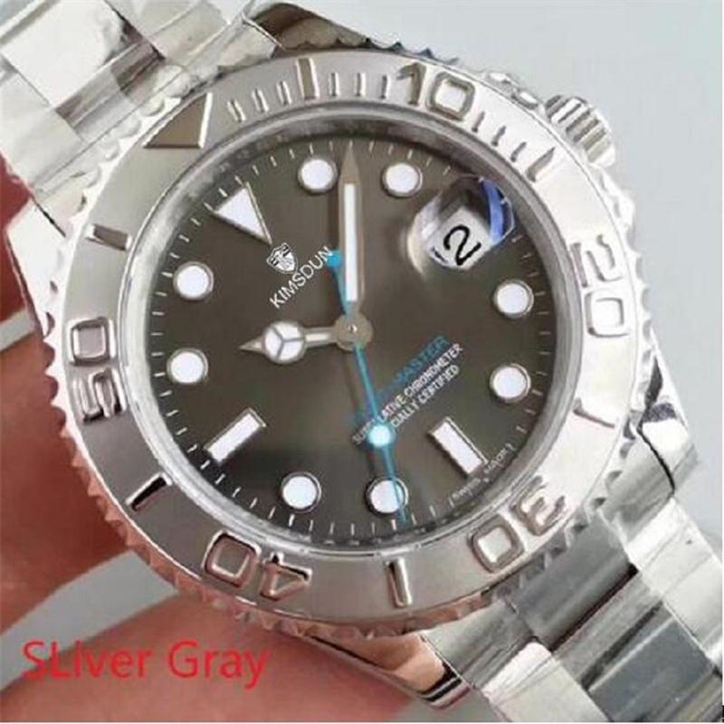 U1 мужские часы серый циферблат сапфировый стекло из нержавеющей стали ремешок автоматическое механическое движение 116622 40 мм мужская яхта часы