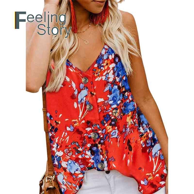 Casual Chiffon V-Ausschnitt Floral Camis Top Frauen Einstellbare Strap Imitation Seide Glatte Sexy Weste Camisole Sleeveless Tops 210603