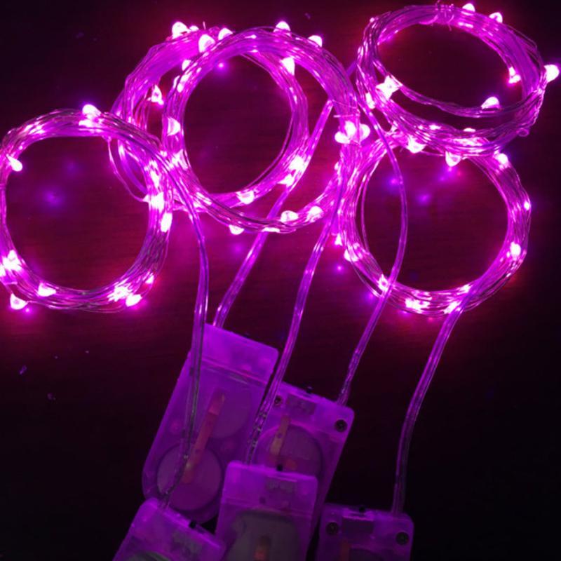 LED 문자열 작동 마이크로 미니 라이트 구리 실버 와이어 별이 빛나는 스트립 실내 야외 침실 웨딩 파티 Crestech168
