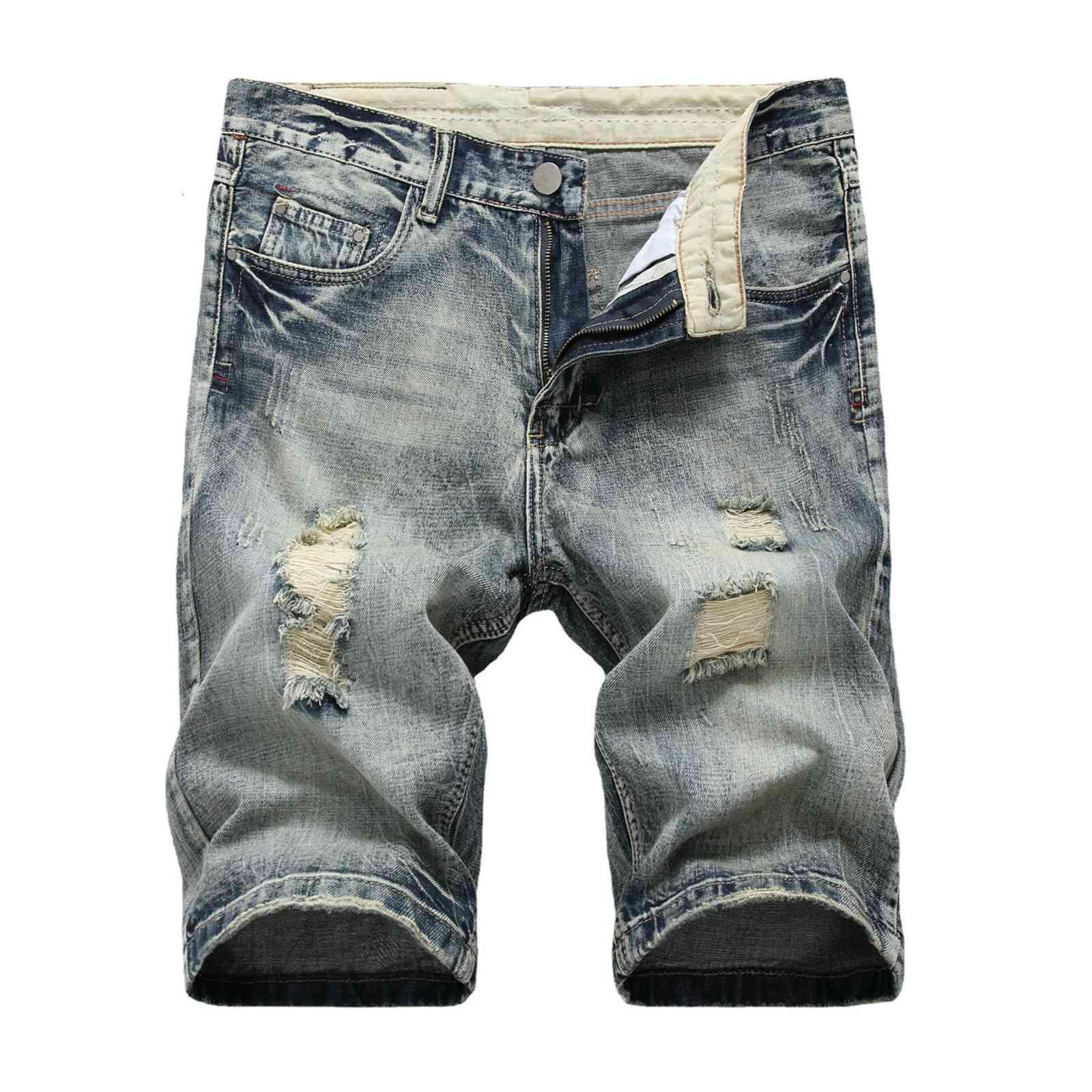 Gerçek kot yaz pamuk delik ışık erkek giyim pantolon ince şort