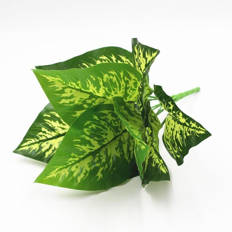 1 unid flores artificiales hoja verde hierba plantas plantas plásticas 9 estilo Falso para la decoración de la boda para el hogar Suministros de fiesta de la decoración Guirnaldas decorativas