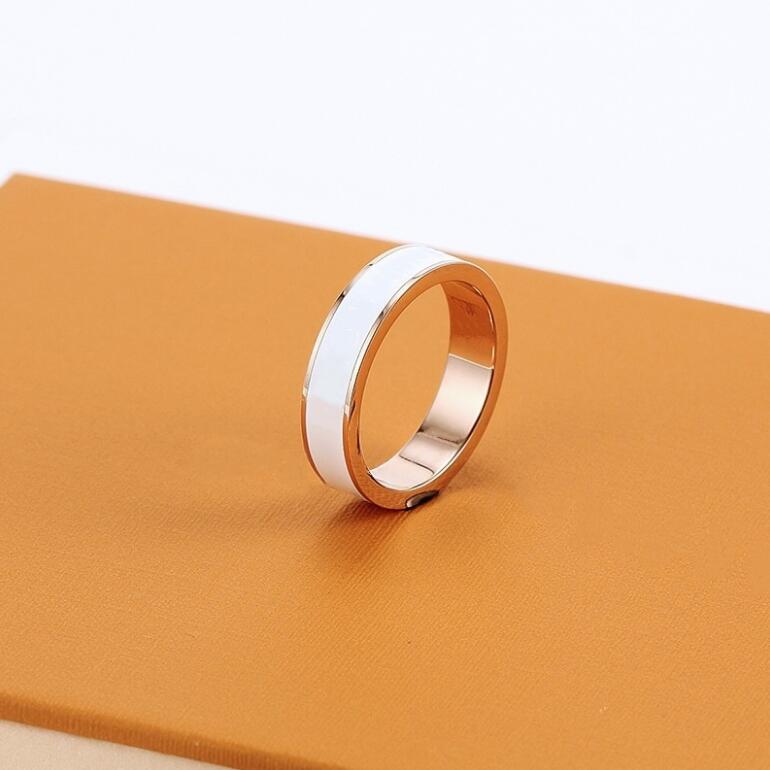 أزياء الذهب إلكتروني الحب الفرقة حلقات لسيدة المرأة حزب عشاق الزفاف هدية مجوهرات الخطوبة مع حقيبة