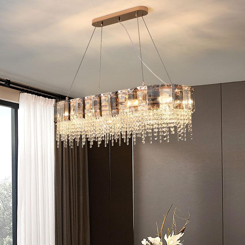 현대식 샹들리에 조명 식당 디자인 LED HANGLAMP 주방 섬 사각형 / 둥근기구 샹들리에