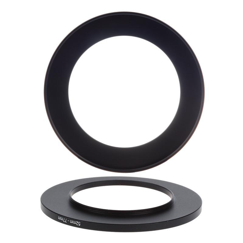 Adattatori per lenti montaggio 2pcs Step Up And Ring Filter Size Adattatore in metallo - 58-77mm 52mm-77mm