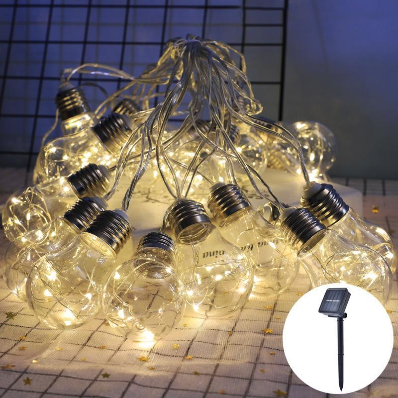 Solarlampen LED-Zwiebeln String Fairy Lights Outdoor Lampe 10/20 Dekoration Garten Wasserdichte Ball Weihnachten Girlande Dekor