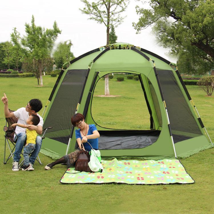 عائلة خيمة التنزه 5-8 شخص التلقائي المظلة الهرم طبقة مزدوجة الألومنيوم القطب شاطئ حزب الخيام التخييم السياحية والملاجئ