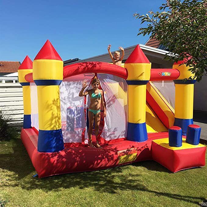 Yard Home Gebrauch aufblasbare Burg Bouncy Castle Jumping Castle Bounce House Combo Slide Moonwak Trampolin Spielzeug mit Gebläse