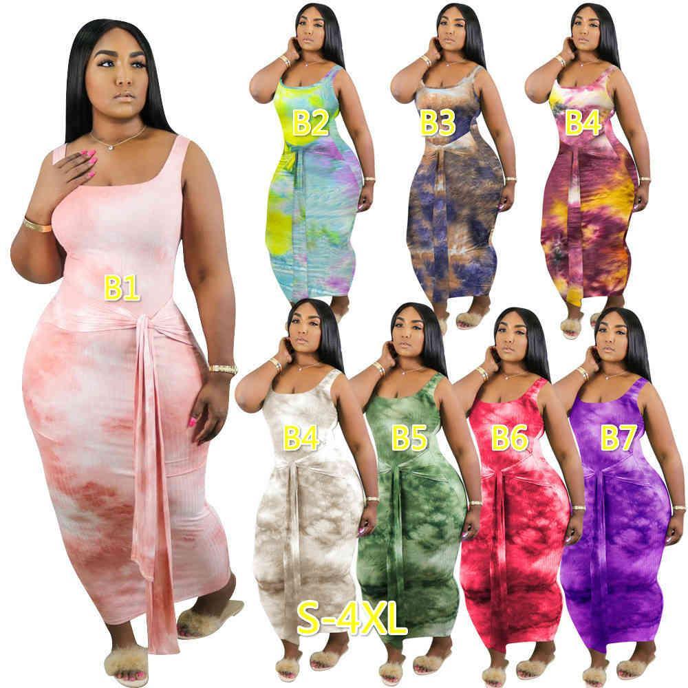 여성 미디 드레스 버블 드레스 플러스 사이즈 Tshirt 랜턴 스커트 스커트 스커트 디자이너 캐주얼 인쇄 숙녀 의류 S-5XL