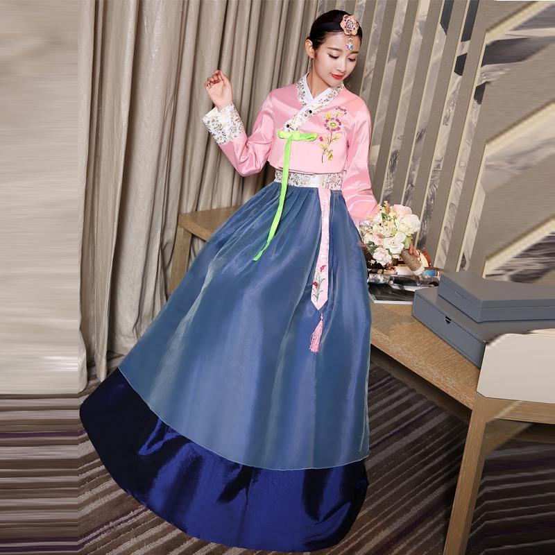 Llegada 6 Color Coloreano Tradicional Vestido Traje Folk Baile Costume Luxury Asia Pacific Islands Ropa para mujeres étnicas