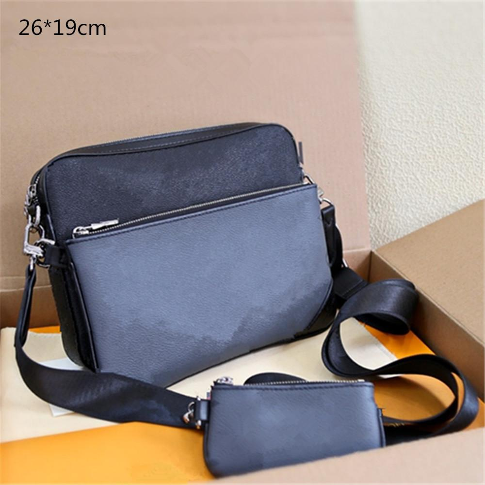2021 مصممون حقائب الكتف crossbody فاخرة محافظ عالية الجودة للجنسين الأزياء 3-Pic رسول حقيبة عارضة مع محفظة صغيرة الزهور المطبوعة L20122501