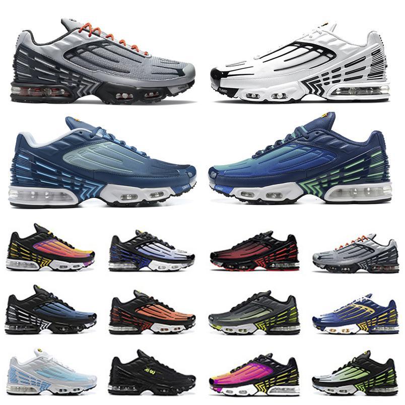 Nike Air Max tn Plus 3 Fashion Oreo Obsidian tn plus 3 III حذاء الجري للرجال tn3 ثلاثي أبيض أسود hyper og usa neon Crimson Red Michigan أحذية رياضية للرجال