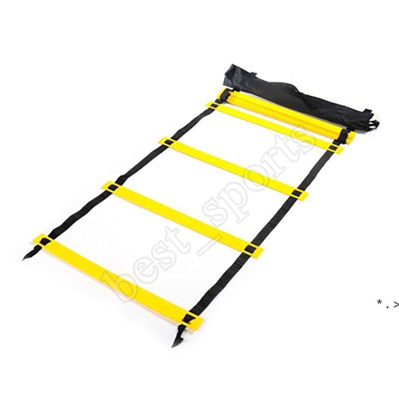 5 Sección 10 metros Escalera de Agilidad Fútbol Cuerda Ladder Salto Speed Speed Pace Capacitación Escalera Fútbol Entrenamiento al aire libre BWC7288
