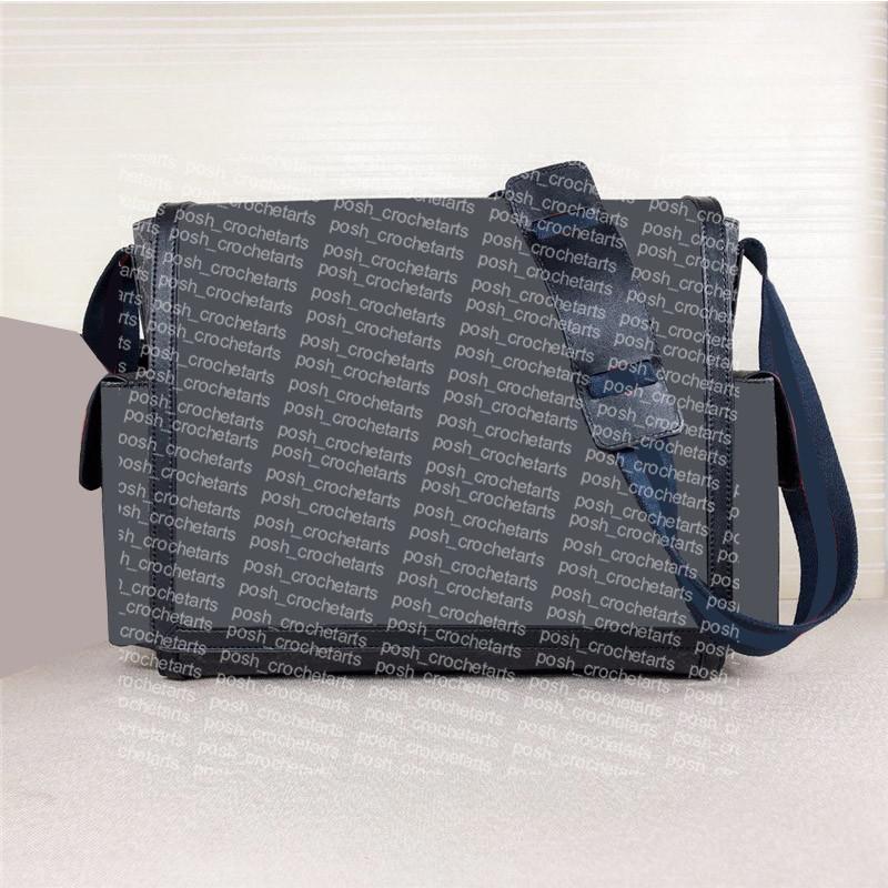 Bolsas de ombro revestidas de lona de couro genuíno guarnição de couro saco vem com esteira de qualidade Baby Mudando Bolsa