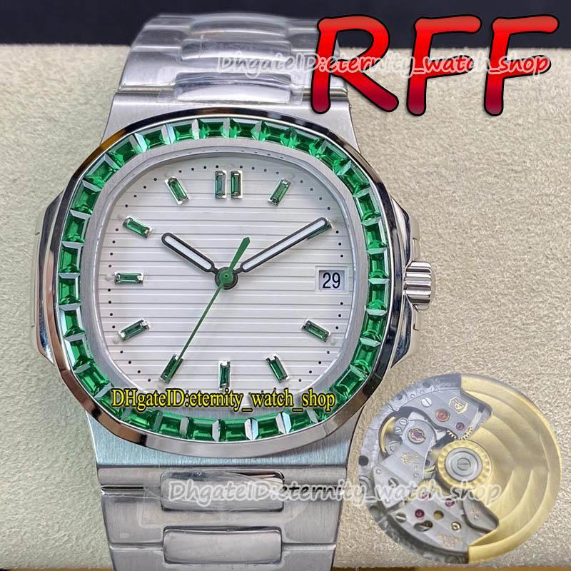 Eternity Relógios RFF Versão Personalizada 5711 / 113P-01 Cal.324 S C Cal.324 s C Automatic Fora T Tex Textura Emerald Inlay Textura Branco Dial Mens Assista SS Pulseira de Aço 5713