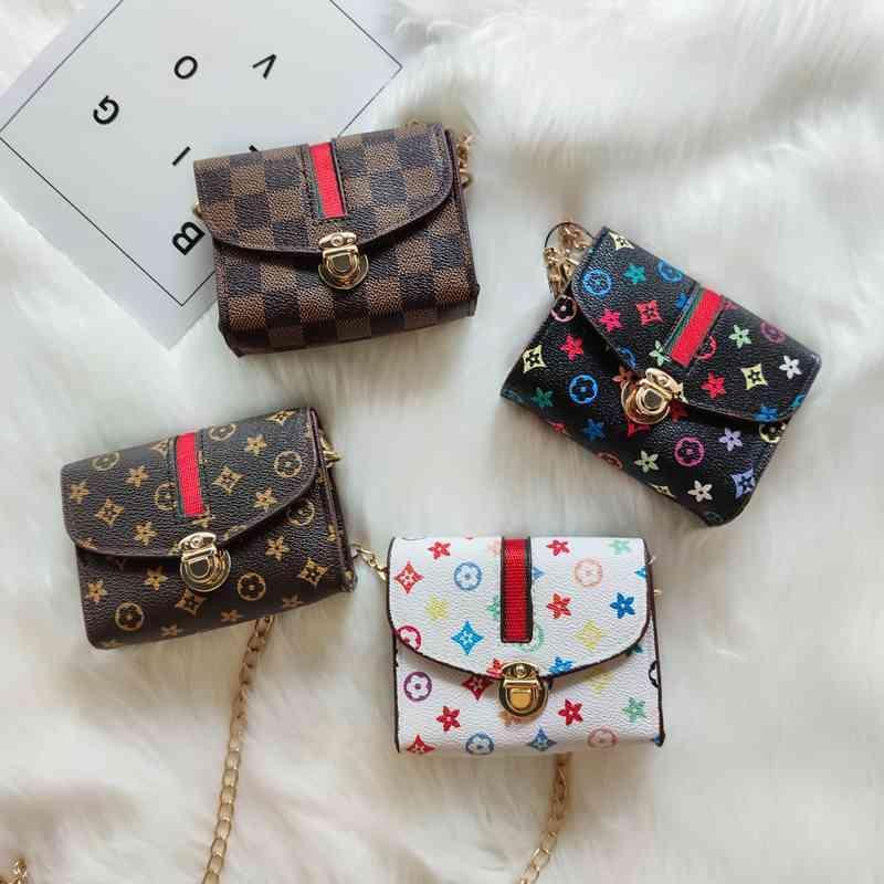 Viutton 2021 Little Girls Mini Bolso Bolso Louiss Bolso de Lujo Monedero de moda para niños Diseño Vintage Pequeño Bolso