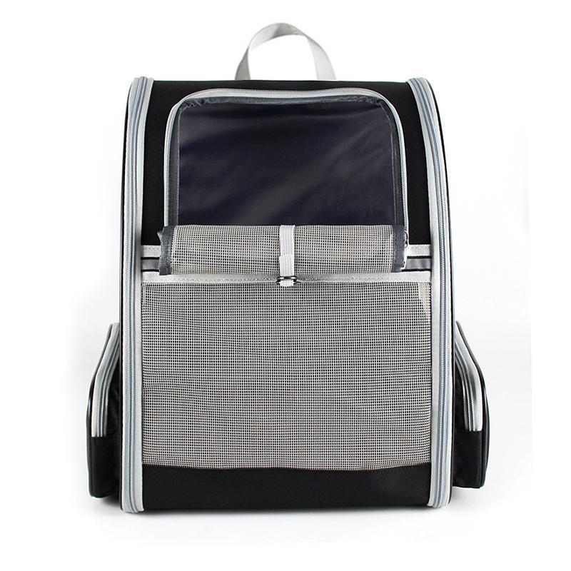 Viagem ao ar livre saco de estimação Bolsa de cão respirável mochila portátil grande capacidade Cat Carrying Cesta Dobrável Portadores, Casas de Caixas