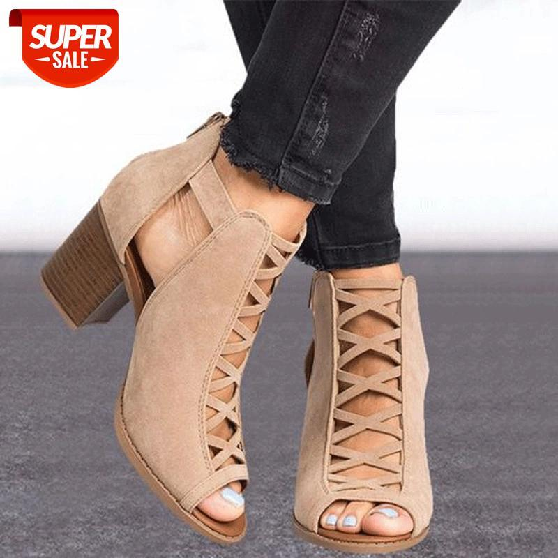 Fashion Women Sandals Summer New Hot Female Fish Mouth Exposed Toe High-Heeled Romanesque Ladies Shoes #e18n
