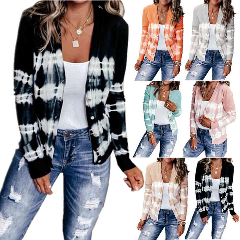 Autumn And Winter women's casual loose knitted jacket cardigan in autumn and winter new fashion Style Sweaters Women Knitting Jackets
