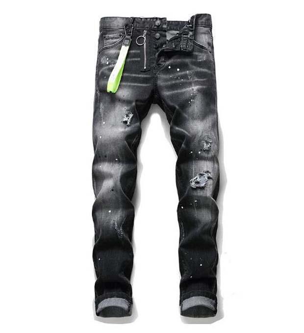 Hommes Designer Jeans Noir Pantalon Moto Skinny Biker Pantalon Pour Cool Hommais Hommas Hop Denim Revival