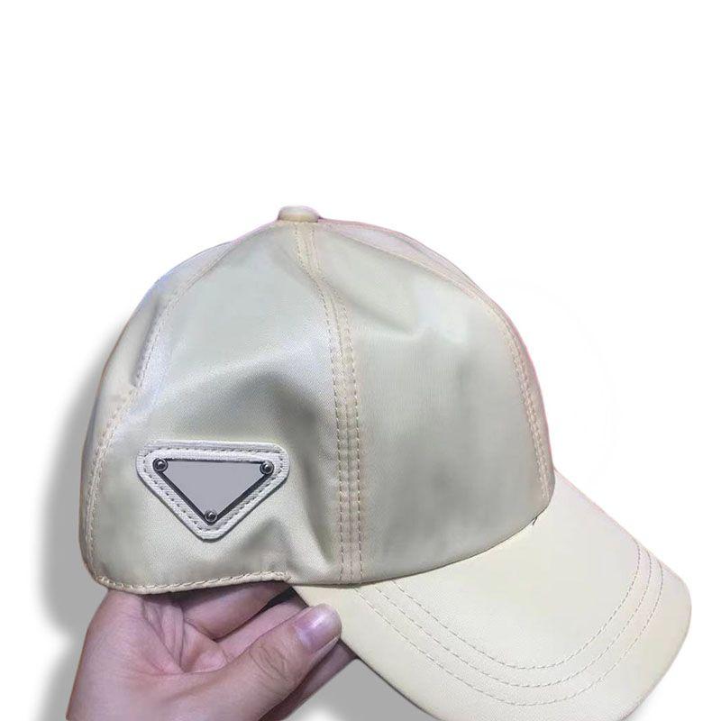 Berretto da baseball WTIH Triangle Uomo Donne Donne Summer Casquette Protezione solare Designer Cappelli Cappelli Cappelli da uomo Domens Cappucci aderenti 202105071xv
