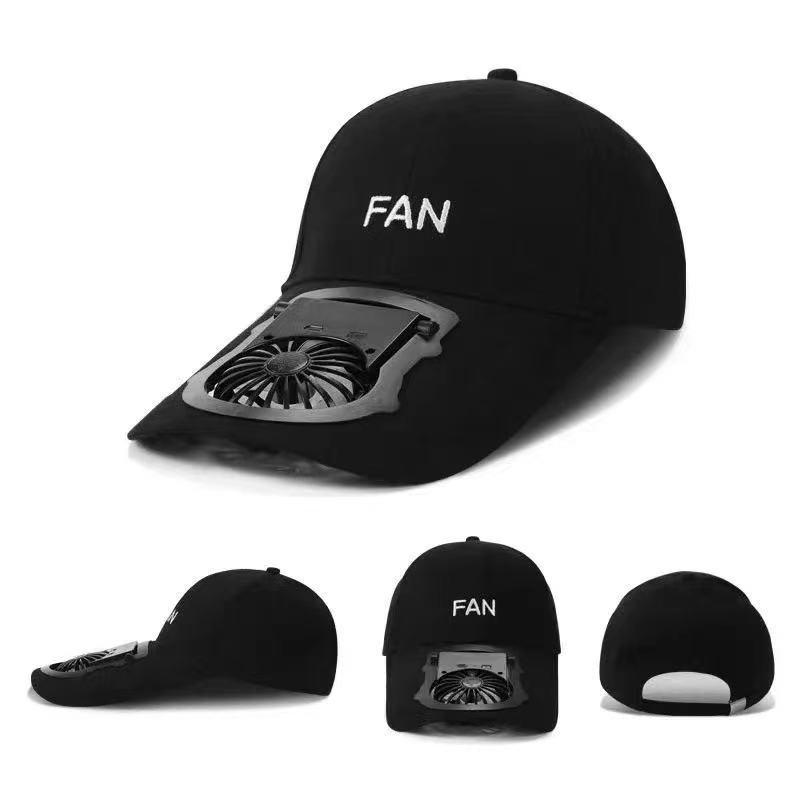 Summer travel baseball cap Fan USB charging summers sun protection adult outdoor sports Hats