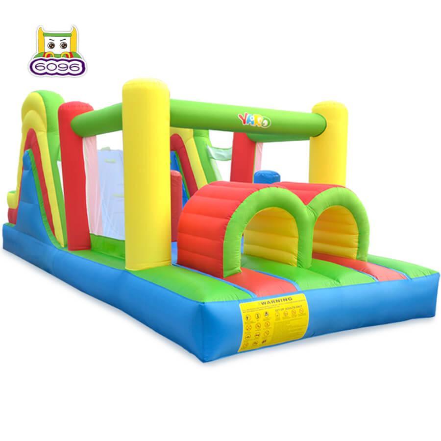 Quintal Quintal Gonfable Castelo Bouncy em Armozim de Ar Livre Inflável Bounce Casa Curso de Obstáculo Com Slide