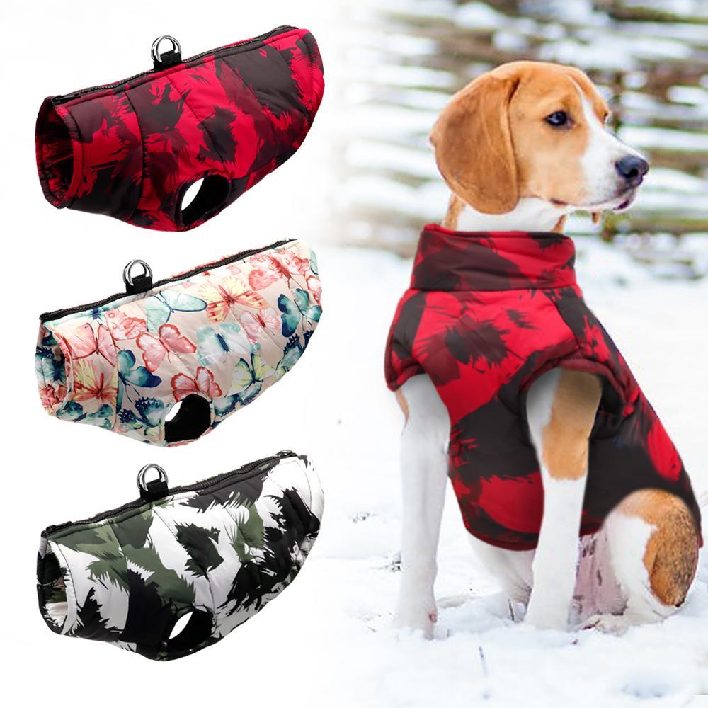 Kalın Sıcak Köpek Giysileri Yelek Kış Pet Giyim Kıyafet Küçük Orta Büyük Köpekler Ceket Ceket Fransız Bulldog Pitbull S-6XL