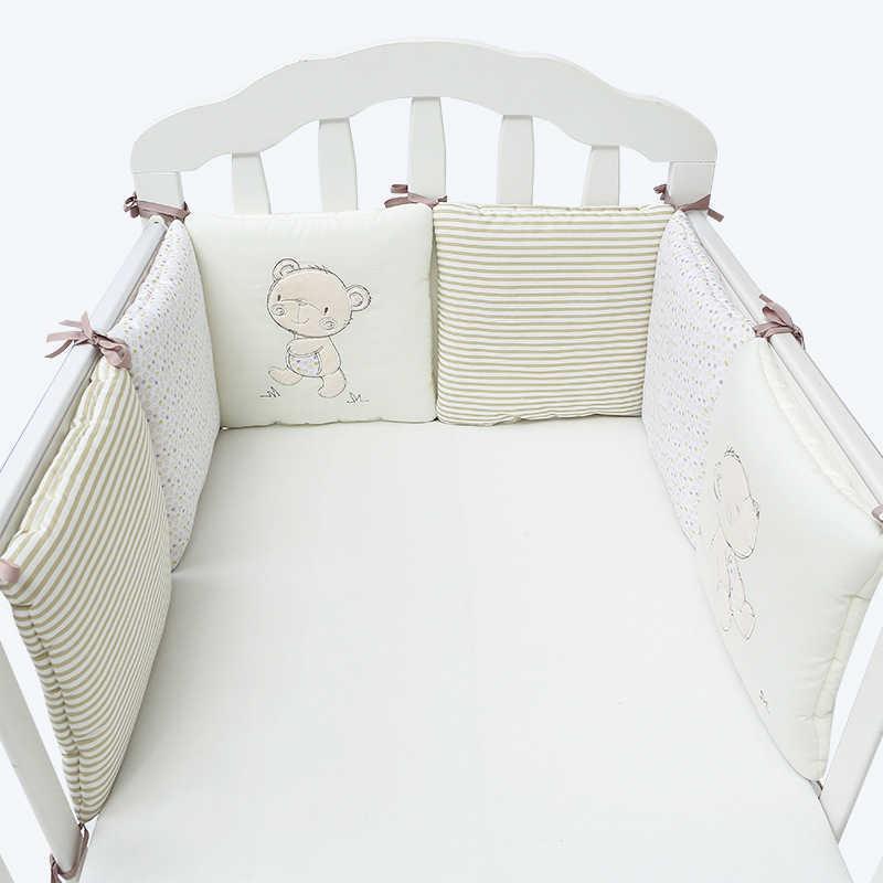 진짜 판매 6pcs / lot 아기 침대 범퍼 보호자 신생아 침구 어린이 침대 범퍼 장식 소년 방 룸 소녀와 Q0828