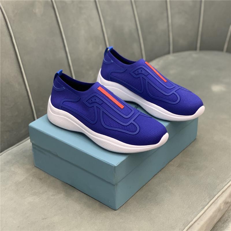 Designer Männer Casual Schuhe Klassische Turnschuhe Sommer Slip-On Sneaker Allgleiches Atmungsaktive flache Plattform Tuch Trainer Luxus Splicing Stylist Shoe mit Box