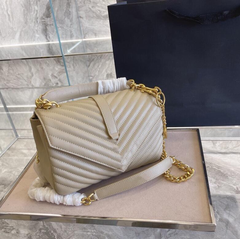 Tasarımcılar Lüks Klasik Çanta Bayanlar Omuz Çantası Kadın Gümüş Altın Donanım Messenger Çanta Alışveriş Çanta