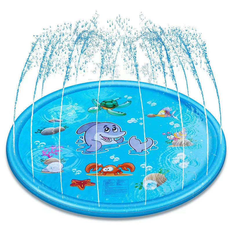 """Upgraded 68"""" Sprinkle and Splash Play Mat, Inflatable Outdoor Sprinkler Pad Water Toys for Children Universal for boys and girls 1024 Z2"""