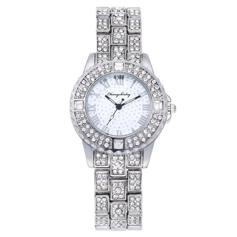 Мужчины и женщины Часы Кварцевые Движения Ледяные OUT Повседневные Платье Часы Все Алмазные Часы Батарея Аналоговый Наручные Часы Водонепроницаемые Блестящие наручные часы