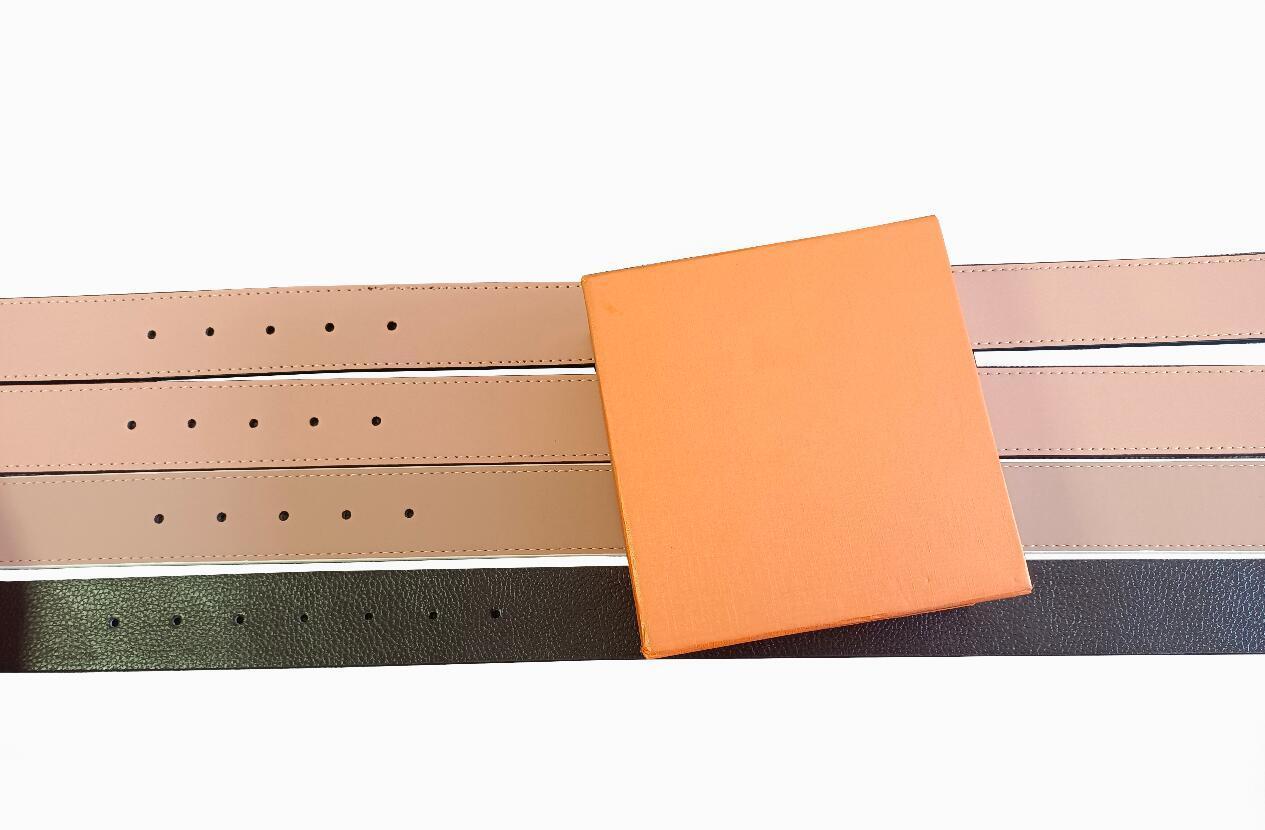 Couro de cinto de designer para homens e mulheres de alta qualidade ouro prata liso fivela tamanho 105-125cm Celts de negócios com caixa