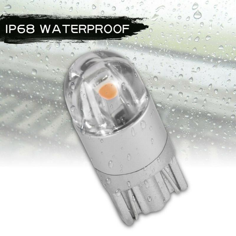 Emergency Lights 168 Bulb T10 194 Purple 2 SMD Side 3030 Tail Turn Signal Light Marker W5W