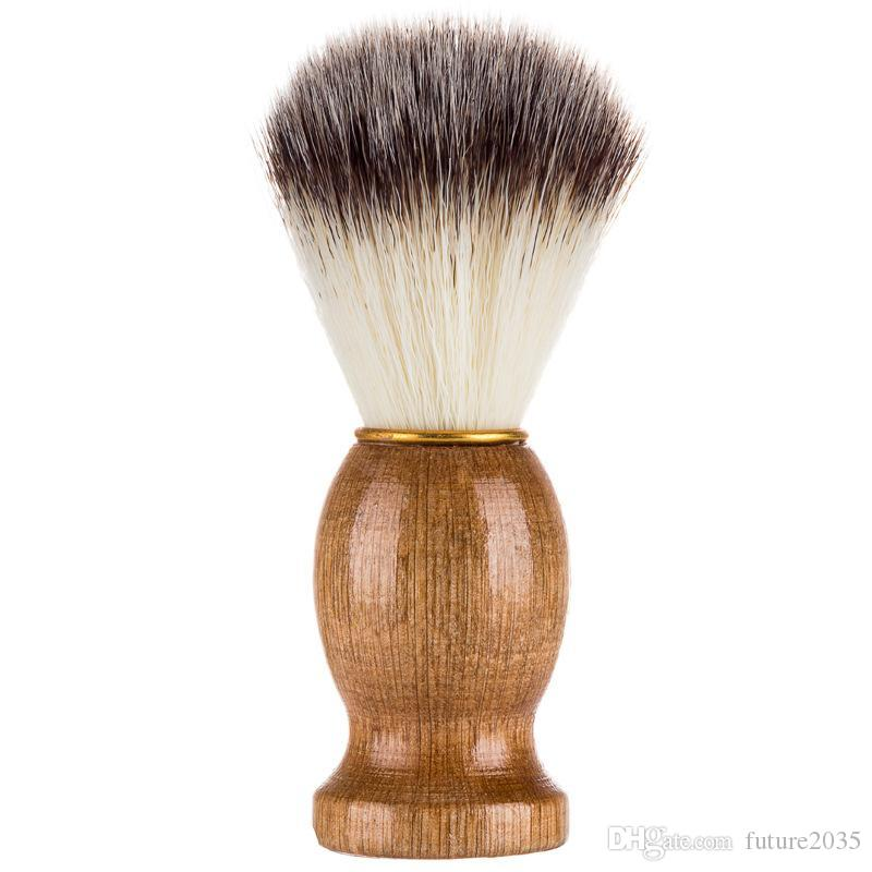 Men Shaving Brush Facial Beard Cleaning Appliance Household Natural Wooden Handle Beards Brushs Facials Care Beauty Tools 11*3.5CM