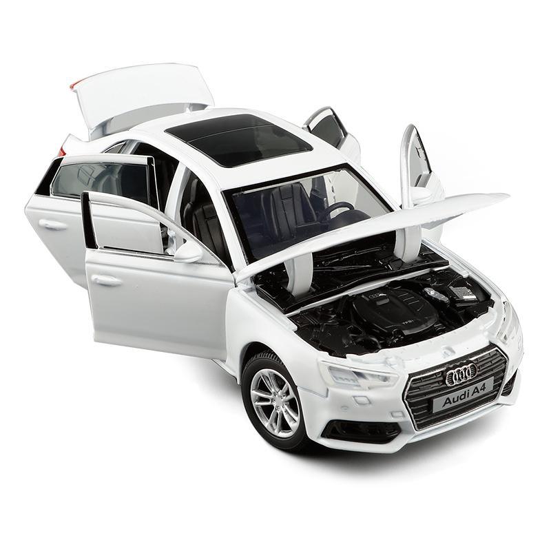 132 AUDI A4 A6 A7 A8 A8 Simulazione Auto Modello Diecast Giocattolo Auto Sounds Foots Hobby per la raccolta Regali di compleanno per bambini