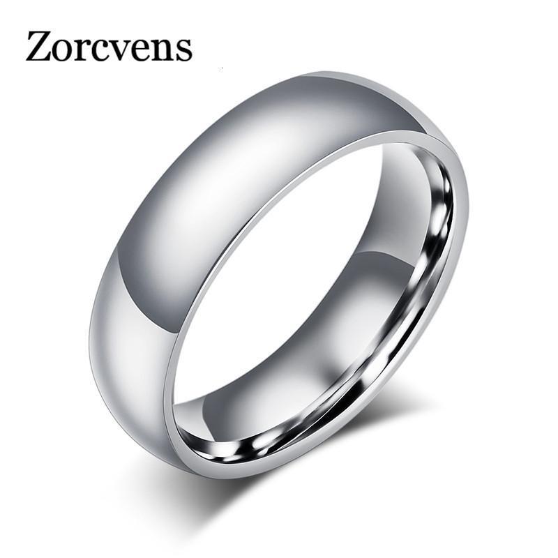 Aşk Yüzük Modyle 2021 Moda Erkekler Için 6mm Klasik Düğün Kadınlar Altın Sier Renk Paslanmaz Çelik Nişan