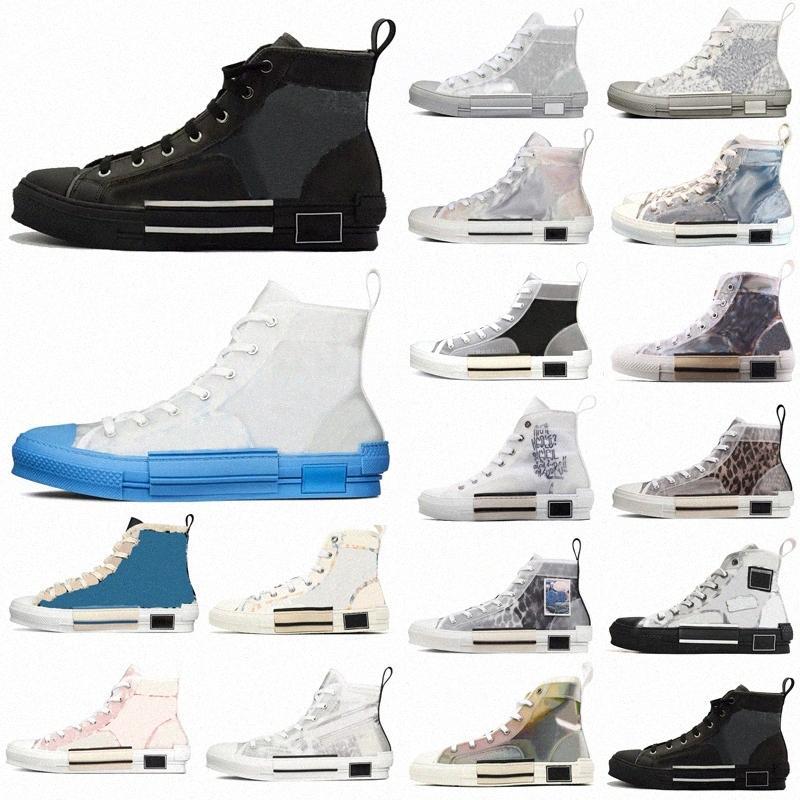 2021 مصمم الرجال النساء أحذية رياضية أحذية مائل الجلود التقنية عالية منخفضة B23 الزهور منصة في الهواء الطلق عارضة أحذية رجالي خمر mbra #