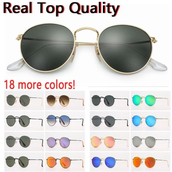 المصمم النظارات الشمسية النساء النظارات الشمسية الرجال sunglsses جولة المعادن uv حماية الزجاج عدسات الزجاج مع حقيبة جلد بني أو أسود، إكسسوارات!
