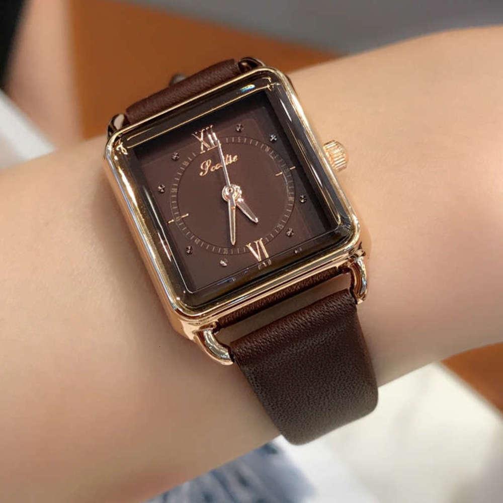 Relógios de pulso shigaodi simples e temperamento quadrado dial feminino moda pequeno relógio de quartzo forvoado