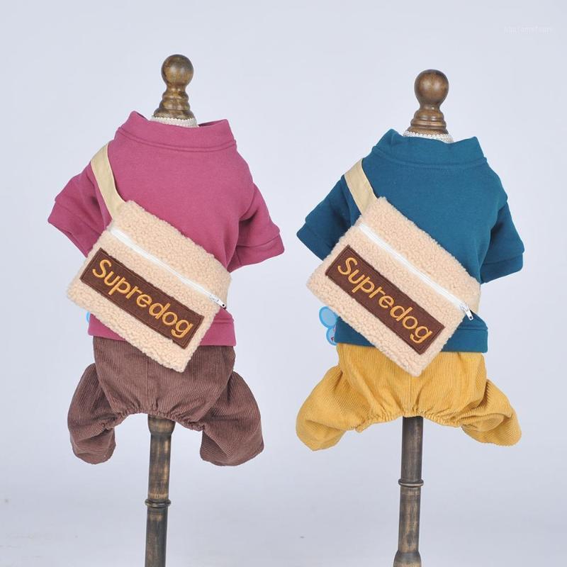 새로운 개 고양이 Jumpsuit 까마귀 배낭 디자인 애완 동물 강아지 코트 재킷 가을 의류 복장 5 크기 2 colours1